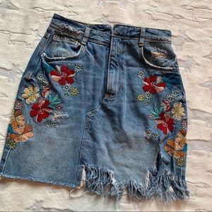 Zara Trafaluc Denim Skirt